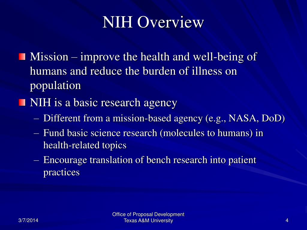 NIH Overview