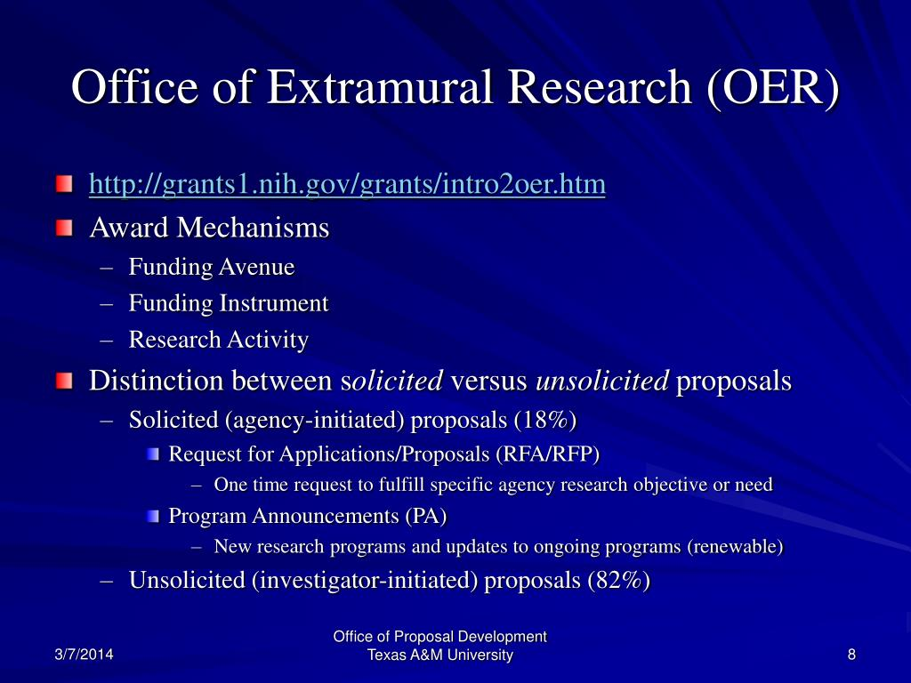 Office of Extramural Research (OER)