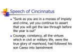 speech of cincinnatus
