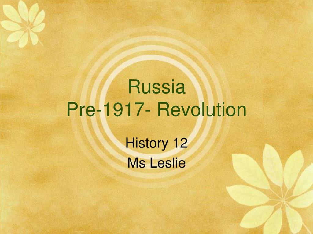 russia pre 1917 revolution l.