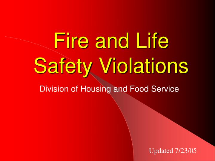fire and life safety violations n.