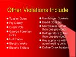 other violations include