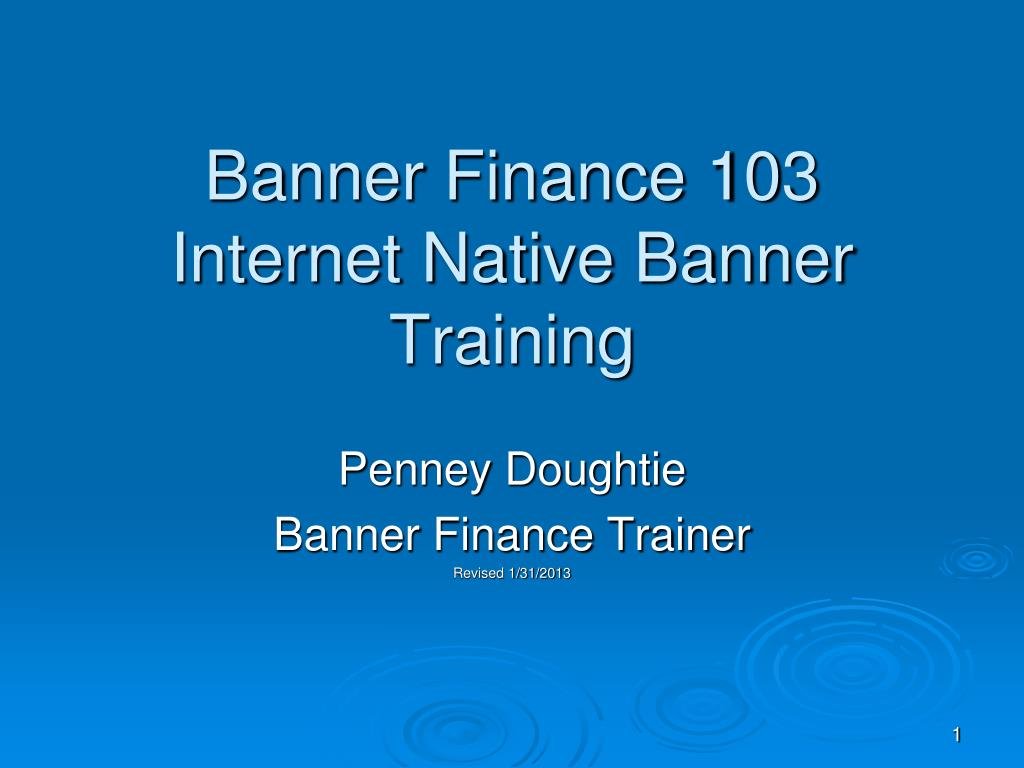 banner finance 103 internet native banner training l.