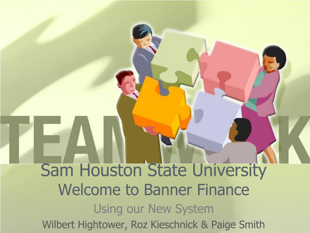sam houston state university welcome to banner finance l.