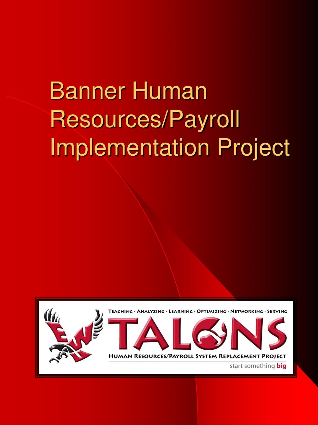banner human resources payroll implementation project l.