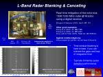 l band radar blanking canceling