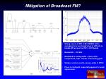 mitigation of broadcast fm