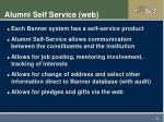 alumni self service web