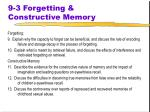 9 3 forgetting constructive memory