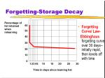 forgetting storage decay