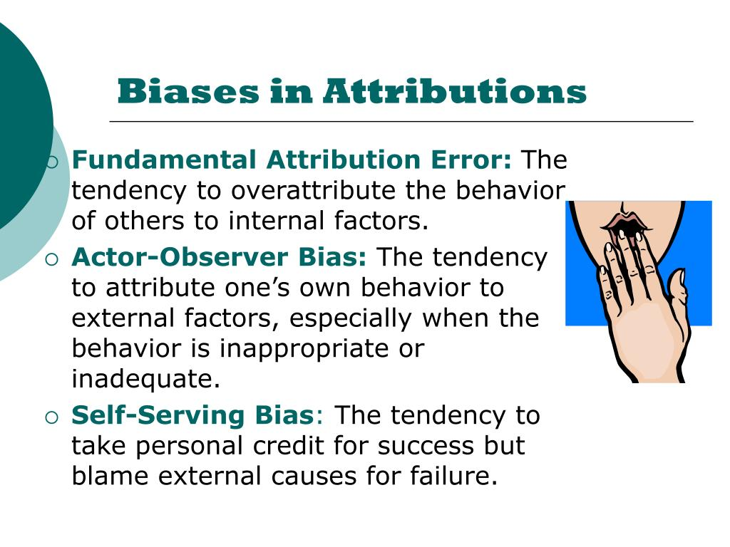 Biases in Attributions