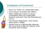 drawbacks of punishment