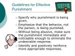 guidelines for effective punishment