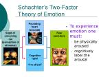 schachter s two factor theory of emotion