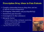 prescription drug abuse in pain patients