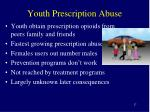 youth prescription abuse