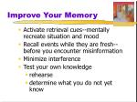 improve your memory1