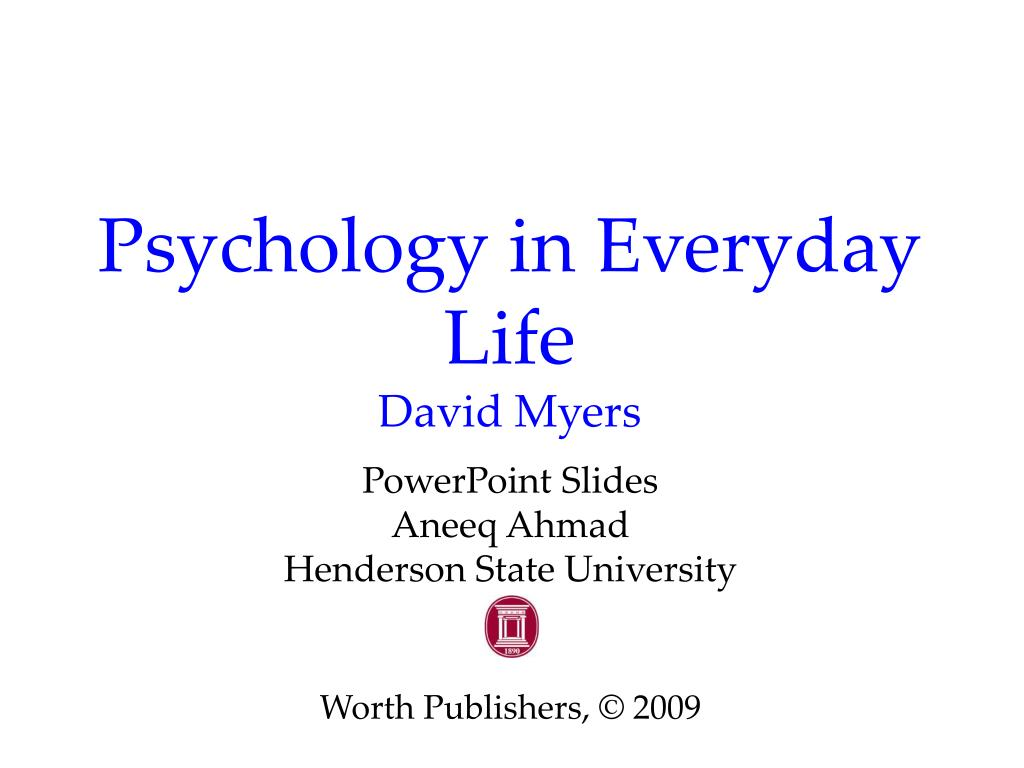 psychology in everyday life david myers l.