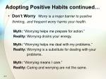 adopting positive habits continued