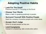 adopting positive habits