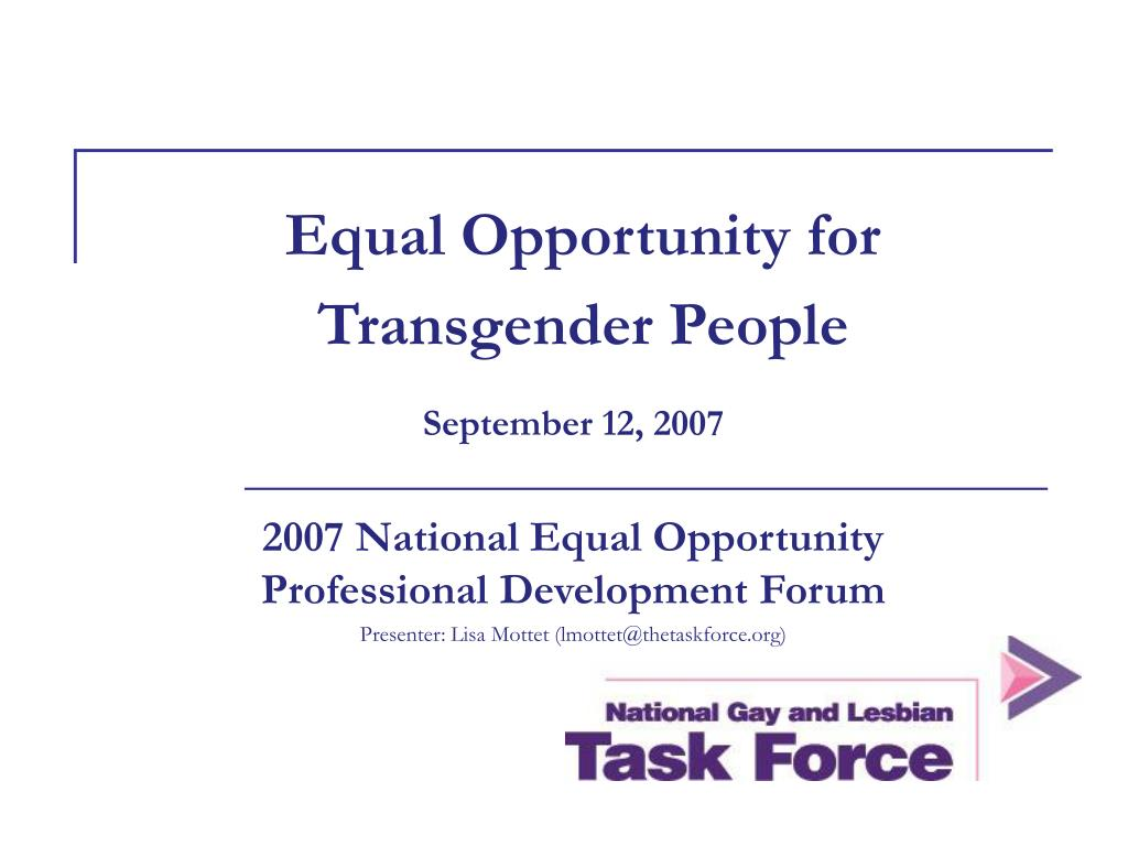 equal opportunity for transgender people l.
