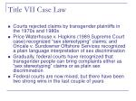 title vii case law