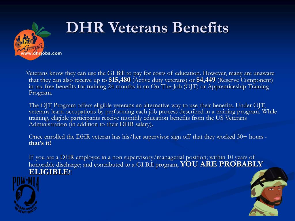 dhr veterans benefits l.