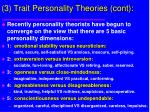 3 trait personality theories cont52