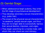 5 genital stage