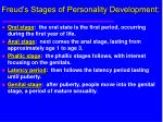 freud s stages of personality development