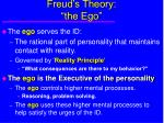 freud s theory the ego13