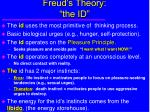 freud s theory the id