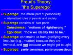freud s theory the superego
