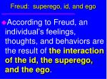 freud superego id and ego