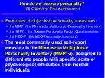 how do we measure personality 3 objective test assessment71