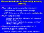 minnesota multiphasic personality inventory mmpi 2