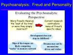 psychoanalysis freud and personality