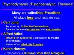 psychodynamic psychoanalytic theories