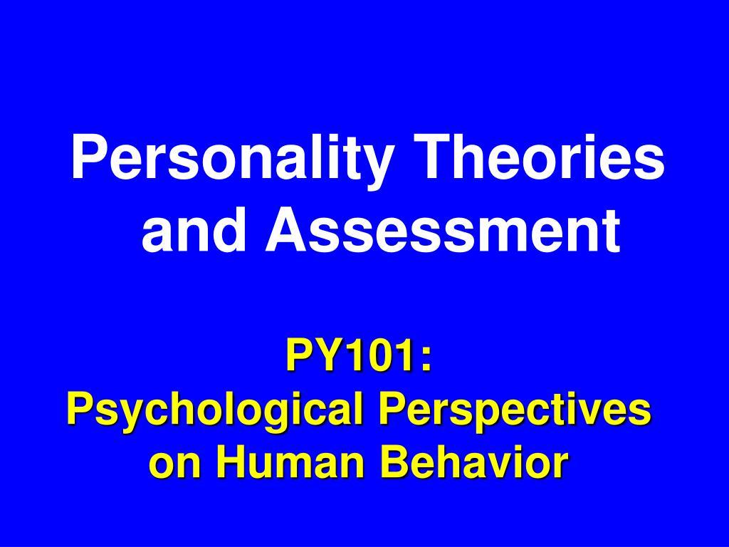 py101 psychological perspectives on human behavior l.