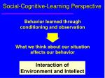 social cognitive learning perspective