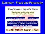 summary freud and personality