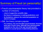 summary of freud on personality