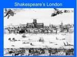 shakespeare s london
