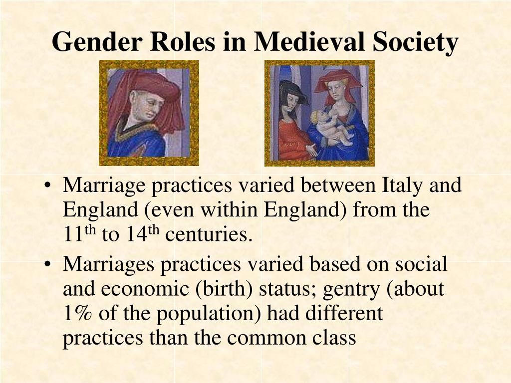 gender roles in medieval society l.