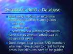 donations build a database