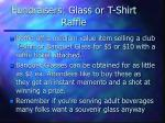 fundraisers glass or t shirt raffle