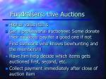 fundraisers live auctions