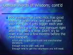 general words of wisdom cont d32