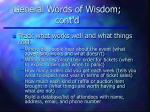 general words of wisdom cont d33