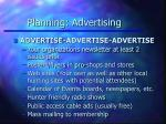 planning advertising